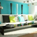 Голубой цвет в оформлении спальни