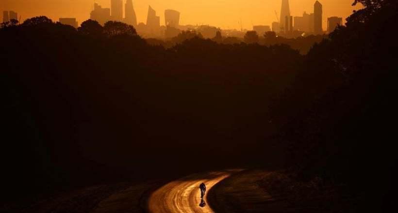 Фото дня: утренняя поездка на велосипеде