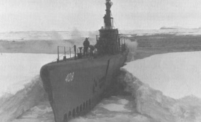 Субмарина-призрак Второй Мировой: со спутника увидели силуэт во льдах