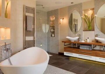 Какими способами можно украсить ванную комнату - советы от школы дизайна