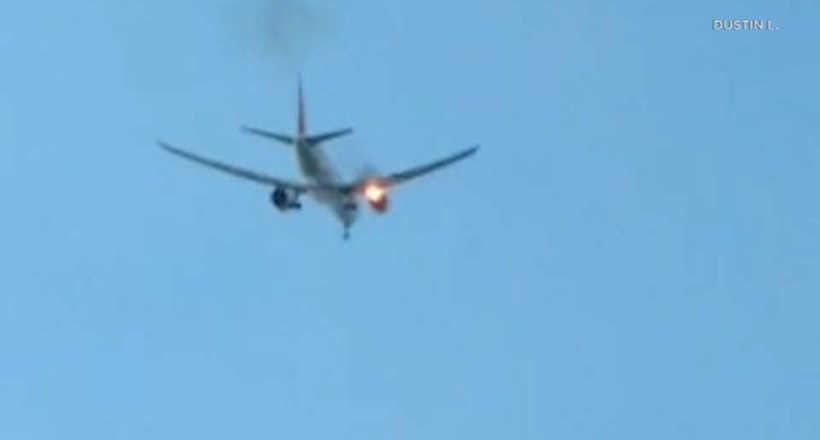 Видео: Пассажирский «Боинг» вспыхнул в небе над Лос-Анджелесом